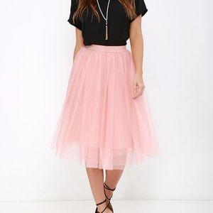 Lulu's Urban Fairy Tale Blush Tulle Skirt